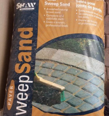 Paver Sweep Sand