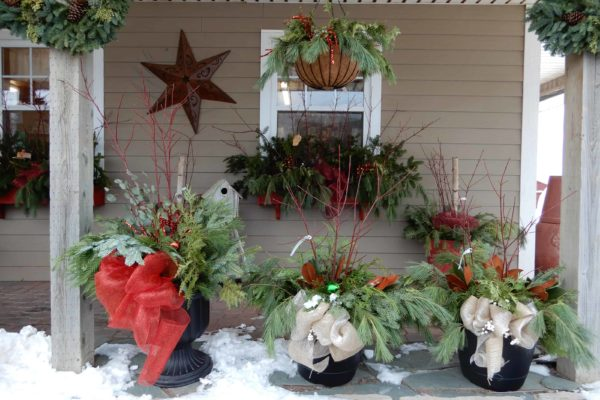 decorated pots window boxes