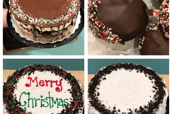 Christmas ice cream cakes