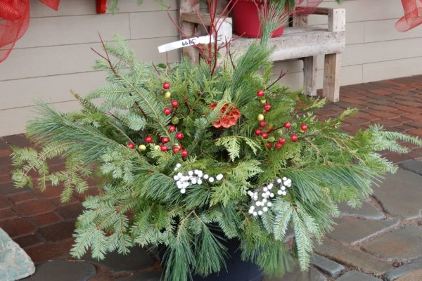 Christmas winter container planter
